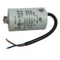 Condensador Trabajo Motor 90uF 450Vac Medidas 57x122mm Terminales Cables 12AG133