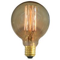 Bombilla decorativa Electro DH globo G125, filamento de carbono, casquillo E27, 60 W de consumo, 80.675/60, 8430552152315