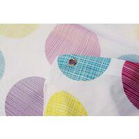 Croydex Textured Dots Textile Shower Curtain