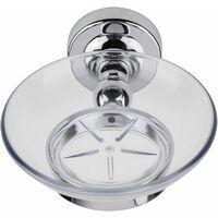 Croydex Flexi-Fix Worcester Soap Dish & Holder, Chrome