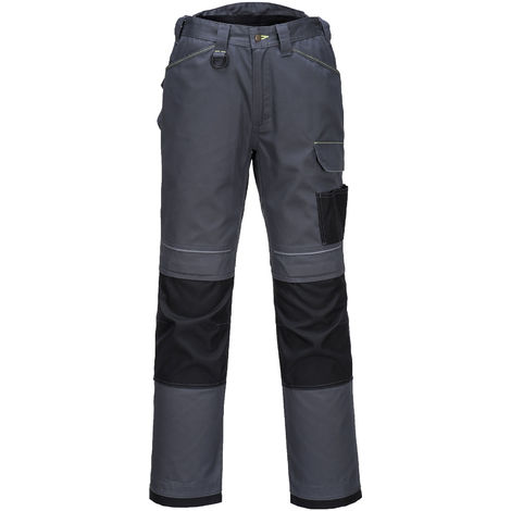 Portwest - Urban Multi Pocket Workwear Trousers, Zoom Grey/Black, 33W / 31L,