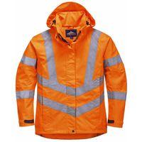 PORTWEST B304 Hi Vis Hooded Sweatshirt Orange B304OR-RL