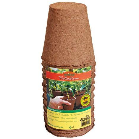 Lot de 10 pots ronds biodégradables 11 cm , semis , bouturage