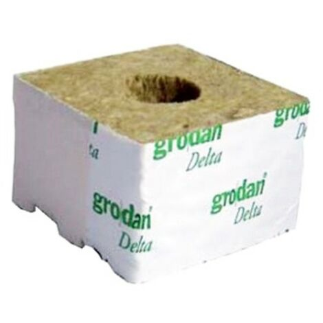 GRODAN - Cubes laine de roche x216 - 100X100X65 mm Grand trou 40/35MM