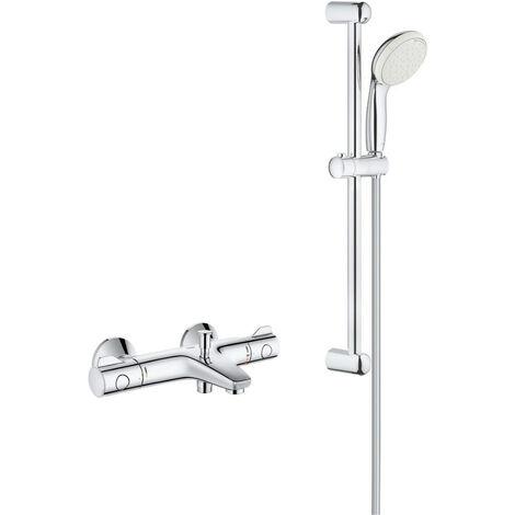 Grohe - Robinet thermostatique bain Grotherm 800 avec ensemble de douche Tempesta