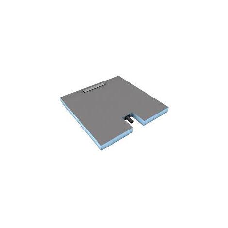 Wedi - Receveur à carreler Wedi Fundo Plano Linea, 90 x 90 - barrette courte