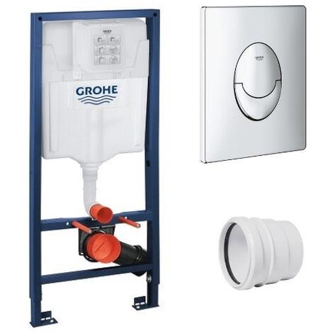 GROHE - Bati support Rapid SL + plaque de commande Skate Air, plaque chromee