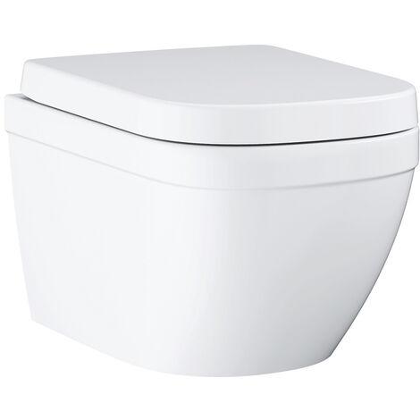 Grohe WC suspendu sans bride Euro Ceramic + abattant