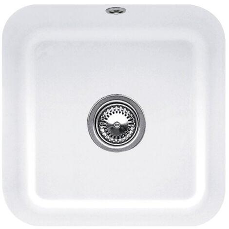 Villeroy et Boch - Evier 1 bac Cisterna 50, blanc ceramicplus, sans systeme de vidage