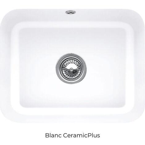 Villeroy et Boch - Evier 1 bac Cisterna 60C, blanc ceramicplus, sans systeme de vidage