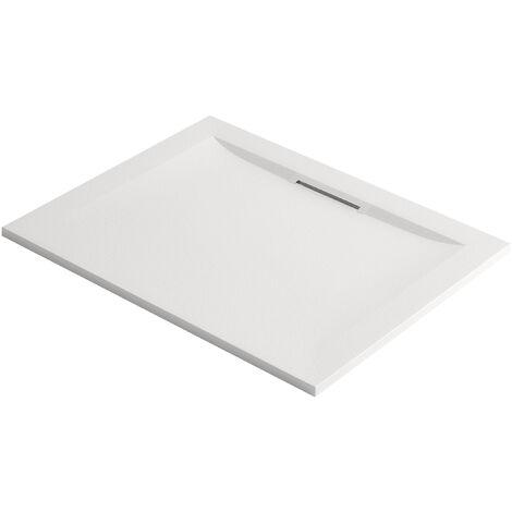 Jacob Delafon - Receveur à encastrer ou à poser Flight Pure blanc, 150 x 80, adherence forte / classe C / PN24