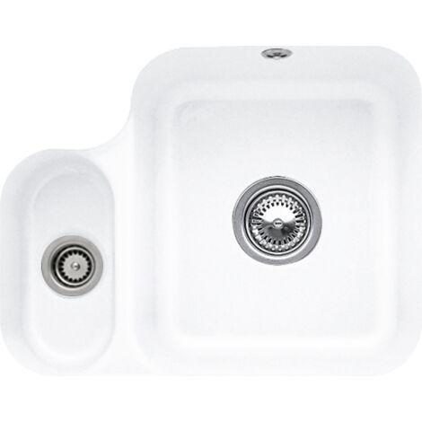 Villeroy et Boch - Evier 1 bac et demi Cisterna 60B, blanc ceramicplus, avec vidage automatique