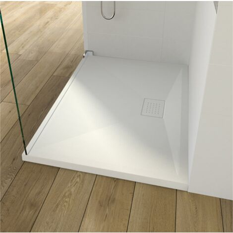 Kinedo - Receveur Kinesurf Blanc, 90 x 70, adherence forte / classe C / PN24, bonde centree sur la longueur