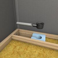Wedi - Receveur écoulement linéaire plancher bois Rioligno, 90 x 90