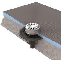 Wedi - Bonde horizontale grille ronde pour receveur Wedi Fundo