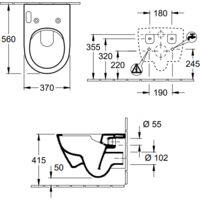 Villeroy & Boch WC japonais Viclean-U+ + abattant
