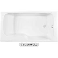 Jacob Delafon - Baignoire bain douche Malice blanche, 160 X 85 - version droite