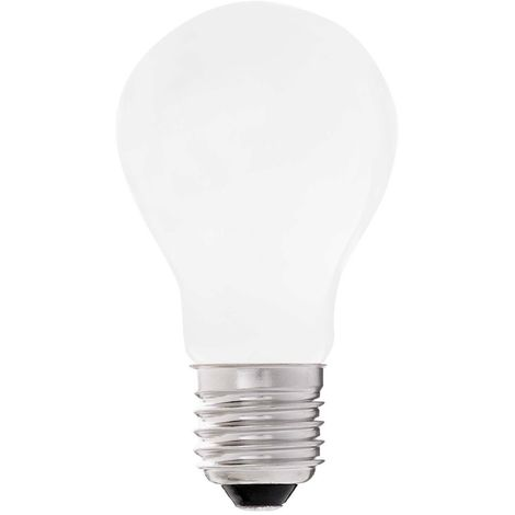 Bombilla LED E27 mate estandar 7W (luz cálida)