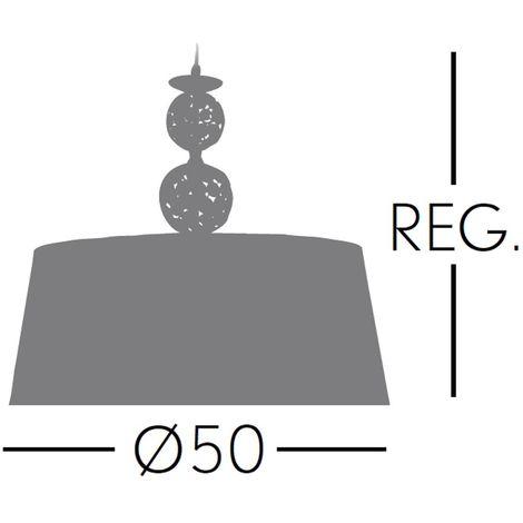 Lámpara de techo Kegan | Cuero