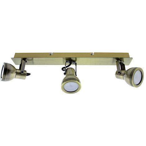 Regleta de techo Heli (3 luces) | Cuero