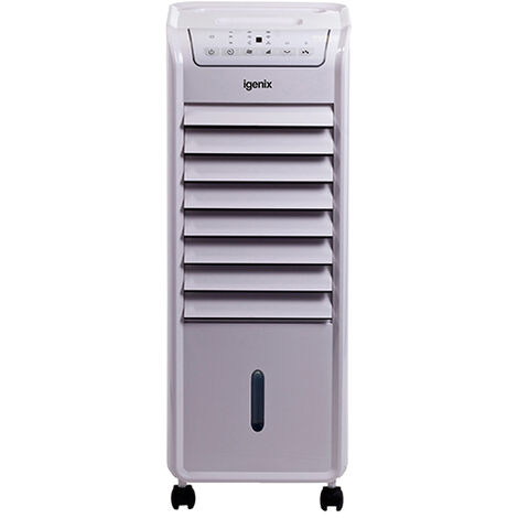 Igenix Portable Air Cooler with Remote Control, 6 Litre Tank Capacity & Timer, White- IG9703