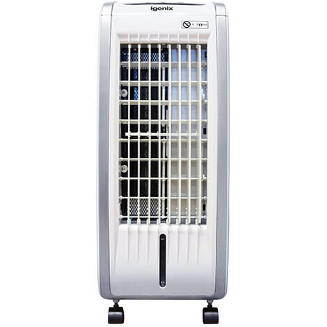 Igenix Portable Air Cooler, Fan Heater & Humidifier, 5 Litre Tank Capacity & Timer, White - IG9704