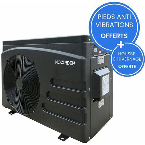 Pompe à chaleur de piscine Inverter NOVARDEN NSH80i pour bassins jusqu'à 35m3 - Noir