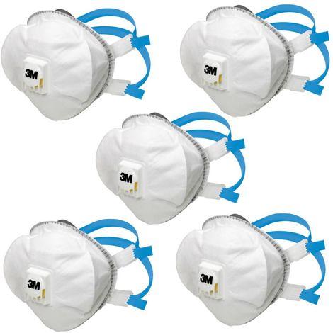 5x Atemschutzmaske 8825 FFP2 D gegen Staub und Partikel 3M