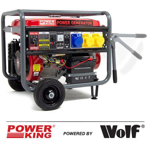 PowerKing Dual Voltage Petrol Generator PKB8500E 6500w 8.125kVA 15HP Electric Start