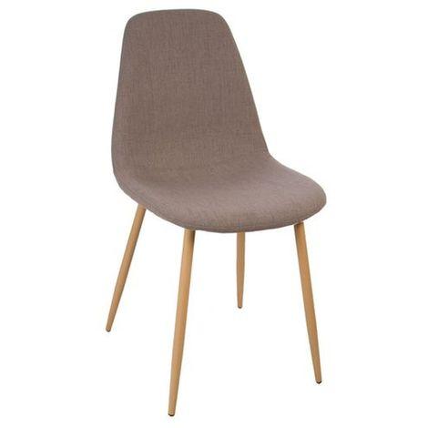 Chaise design scandinave Roka - 45 x 53 x 87 - Taupe