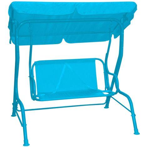 Balancelle enfant avec ombrelle Léo - Turquoise  - Bleu