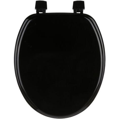 Abattant WC - Bois - 43 x 37 - Noir