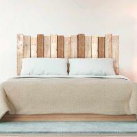 Sticker tête de lit Planche en bois - 70 x 160 - Marron