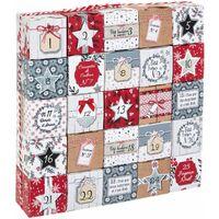 Calendrier de l'Avent boîtes Jeanne - 25 x 5 x 25 - Rouge