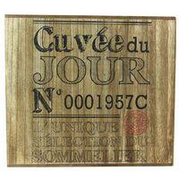 Cave à vin en bois - 6 Bouteilles - Cuvée du jour - 30 x 33 x 30 - Marron