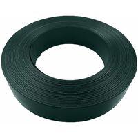 Lamelle occultante PVC avec clip de fixation de 50 m pour grillages rigides - 500x4,8x0,5cm - Vert