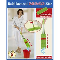 Balai lave-sol Wringo-Star - 32 x 10 x 132 - Vert