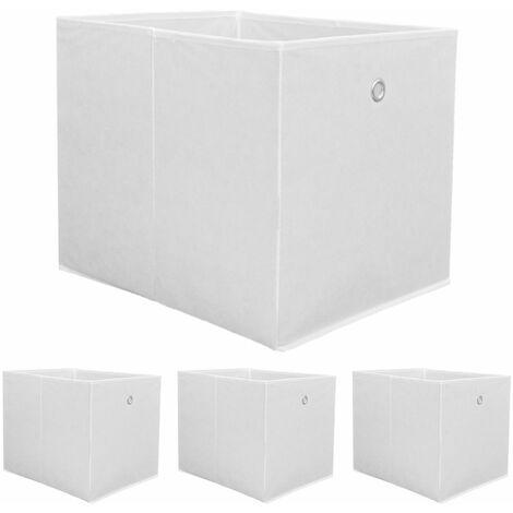 3x WeiГџ 33 x 33 Faltbox ohne Deckel Regal box Aufbewahrungsbox Stoffbox faltbar