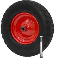 Schubkarrenrad Ersatz-Rad 3.50-6 universal Ø 325 mm Sackkarrenreifen komplett