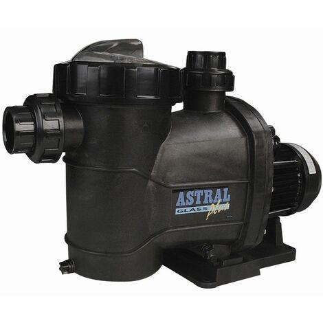 Pompe de filtration piscine astral glass plus monophasée 0.75 cv (0.55 kw) débit : 12.5m3/h
