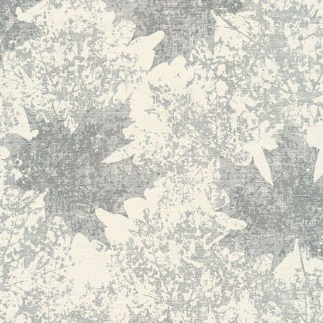 Papier peint intissé 322645 Borneo - Papier peint palmier Beige/Crème Argent - 10,05 x 0,53 m