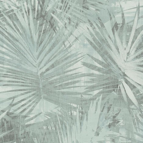 Papier peint intissé 363853 Hygge - Papier peint palmier Gris - 10,05 x 0,53 m