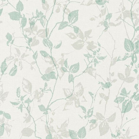 Papier peint intissé 363972 Hygge - Papier peint palmier Beige/Crème Gris Vert - 10,05 x 0,53 m