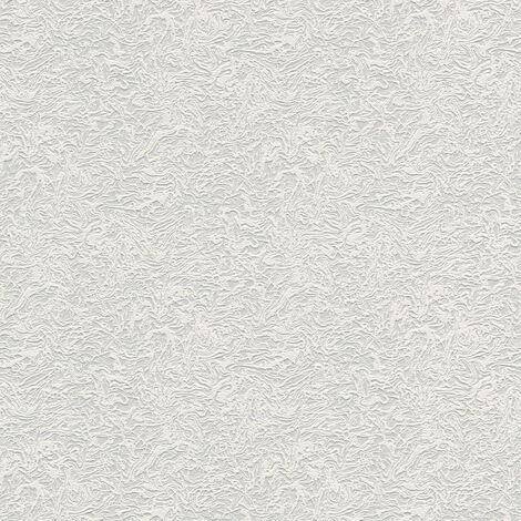 Papier peint intissé 168214 Meistervlies 2020 - Papier peint à peindre Blanc - 10,05 x 0,53 m