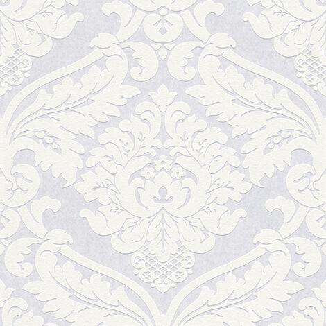 Papier peint baroque Tapisserie baroque Papier peint intissé À peindre Blanc 243713 - 10,05 x 0,53 m