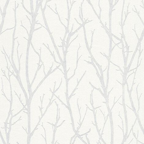 Papier peint intissé 321015 Meistervlies 2020 - Papier peint à peindre Blanc - 10,05 x 0,53 m