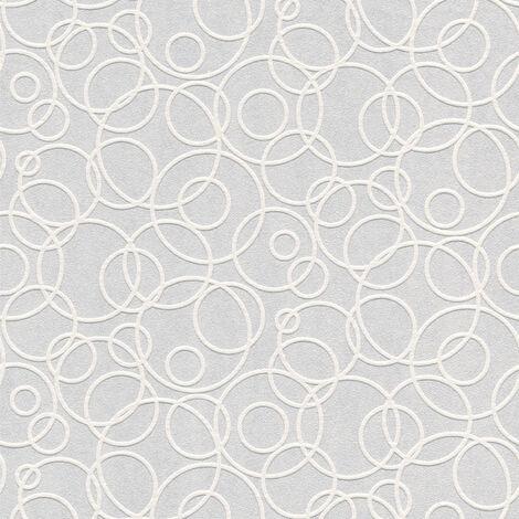 Papier peint moderne Papier peint tendance Tapisserie moderne Papier peint intissé À peindre Blanc 519313 - 10,05 x 0,53 m