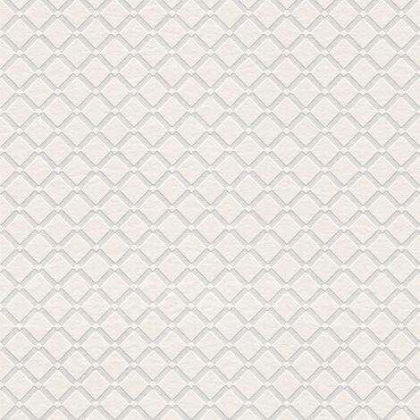 Papier peint moderne Papier peint tendance Tapisserie moderne Papier peint intissé À peindre Blanc 528117 - 10,05 x 0,53 m