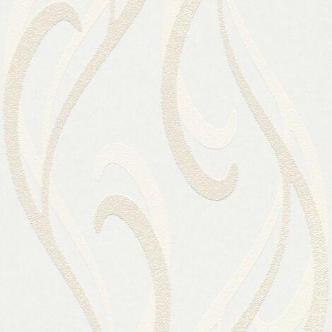 Papier peint moderne Papier peint tendance Tapisserie moderne Papier peint intissé À peindre Blanc 934821 - 10,05 x 0,53 m