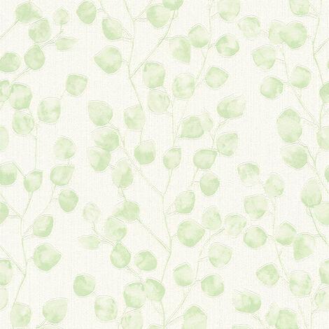 Papier peint intissé 370051 Blooming - Papier peint palmier Vert Blanc - 10,05 x 0,53 m